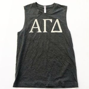 Tops - Alpha Gam Sorority Tank Top Shirt College S canvas